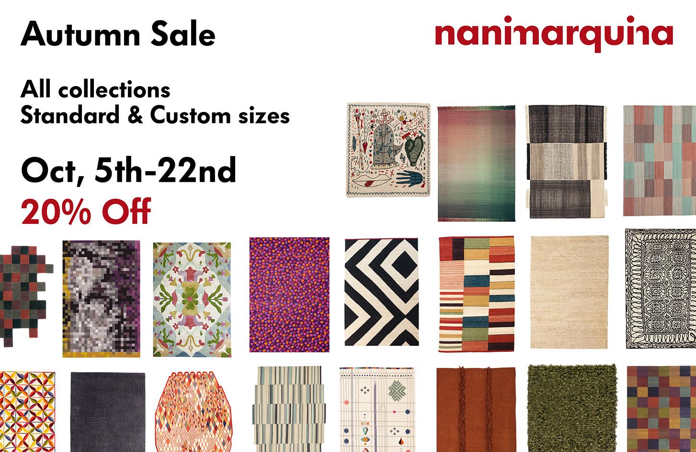 Nanimarquina autumn sale: 20% off su tutta la collezione