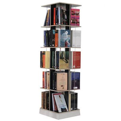libreria girevole a 5 ripiani